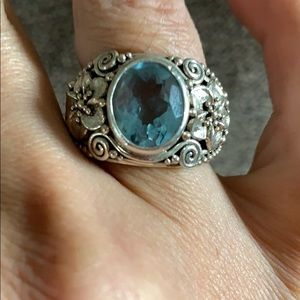 Jewelry - Sterling silver Indonesian blue topaz ring